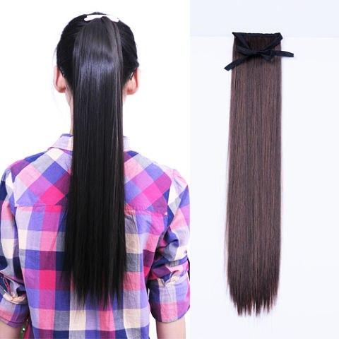 Как сделать хвост из натуральных волос на заколках